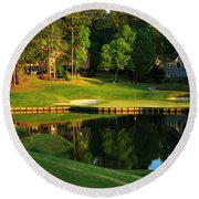 Golf At The Landing #3 In Reynolds Plantation On Lake Oconee Ga Round Beach Towel by Reid Callaway