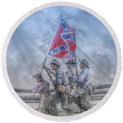 The Last Charge Round Beach Towel by Randy Steele