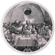 The Last Supper From The 'great Passion' Series Round Beach Towel