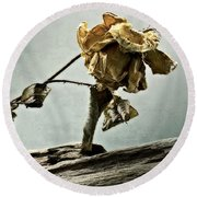 The Last Yellow Rose Of Summer Round Beach Towel