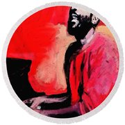 The Late Great Marvin Gaye Round Beach Towel