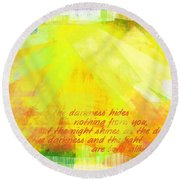 The Light Round Beach Towel
