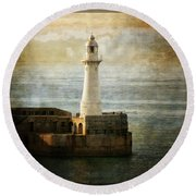 The Lighthouse Round Beach Towel by Lucinda Walter