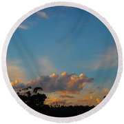 Round Beach Towel featuring the photograph The Old Lighthouse by Mark Blauhoefer