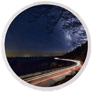 The Linn Cove Viaduct Milky Way Round Beach Towel