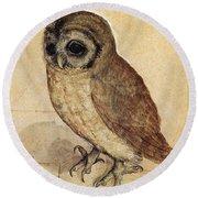 The Little Owl 1508 Round Beach Towel