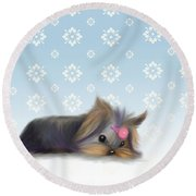 The Little Thinker  Round Beach Towel