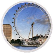 The London Eye Round Beach Towel by Rod McLean