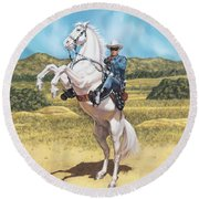 The Lone Ranger Round Beach Towel