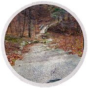 The Long Lonely Trail... Round Beach Towel by Tim Fillingim