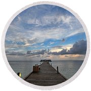 The Long Walk Round Beach Towel by HH Photography of Florida