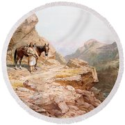 The Look Out Round Beach Towel