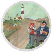The Lore Of The Sea Round Beach Towel