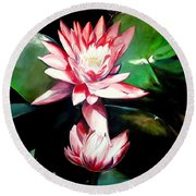 The Lotus Round Beach Towel
