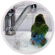 The Lovebird's Shower Round Beach Towel