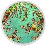 The Mad Hatter's Fractal Round Beach Towel by Susan Maxwell Schmidt