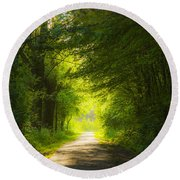 The Magic Forest-03 Round Beach Towel