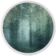 The Magic Forest Round Beach Towel