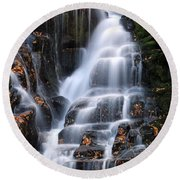 The Magic Of Waterfalls Round Beach Towel