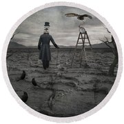The Magician Round Beach Towel