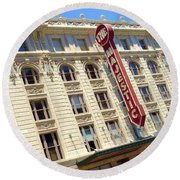 Round Beach Towel featuring the photograph The Majestic Theater Dallas #1 by Robert ONeil
