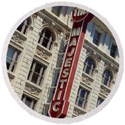 Round Beach Towel featuring the photograph The Majestic Theater Dallas #2 by Robert ONeil