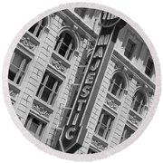 The Majestic Theater Dallas #3 Round Beach Towel by Robert ONeil