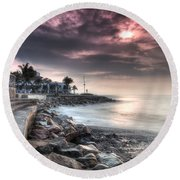 The Malecon Round Beach Towel