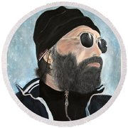 The Man Who Stole My Heart.. Round Beach Towel