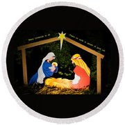 O Holy Night Round Beach Towel