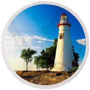 The Marblehead Light Round Beach Towel