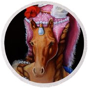 The Mare As Queen Round Beach Towel
