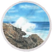 The Marginal Way Round Beach Towel by Troy Levesque