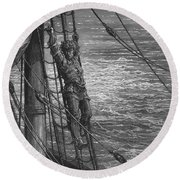 The Mariner Describes To His Listener The Wedding Guest His Feelings Of Loneliness And Desolation  Round Beach Towel
