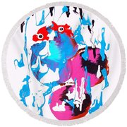 The Meat Bucket Blues Round Beach Towel