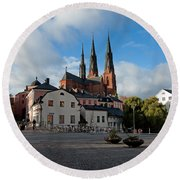 The Medieval Uppsala Round Beach Towel