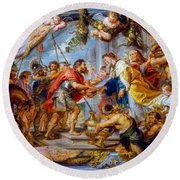 The Meeting Of Abraham And Melchizedek Round Beach Towel