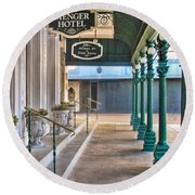 The Menger Hotel In San Antonio Round Beach Towel