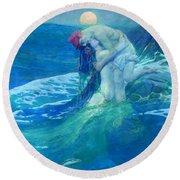 The Mermaid Round Beach Towel