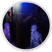 Round Beach Towel featuring the digital art The Mermaids Dresser by Rosa Cobos