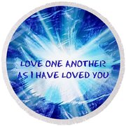 Round Beach Towel featuring the photograph The Message by Leanne Seymour