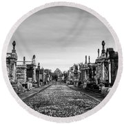 The Metairie Cemetery Round Beach Towel