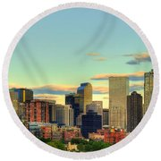 The Mile High City Round Beach Towel