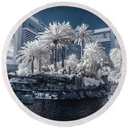 The Mirage In Infrared 2 Round Beach Towel