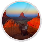 The Mittens Round Beach Towel by Inge Johnsson