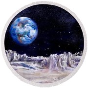 The Moon Rocks Round Beach Towel by Jack Skinner