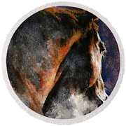 Cold Sunrise Round Beach Towel by Laur Iduc
