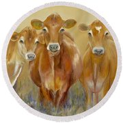The Morning Moo Round Beach Towel by Catherine Davis