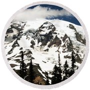 The Mountain Round Beach Towel