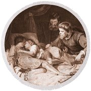 The Murder Of The Princes In The Tower Round Beach Towel